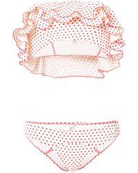 Lisa Marie Fernandez - Red Sabine Ruffle Bikini - Lyst