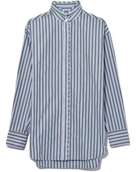 Rag & Bone - Green Stripe Audrey Shirt - Lyst