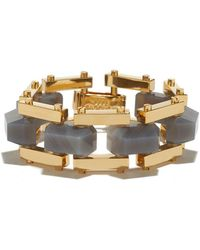 Lele Sadoughi - Charcoal Bedrock Bracelet - Lyst