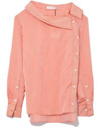 Eileen asymmetric striped twill blouse Altuzarra Where To Buy Cheap Real Low Shipping Fee Cheap Price Inexpensive Cheap Online Outlet Eastbay Buy Cheap Get Authentic gjoxtP