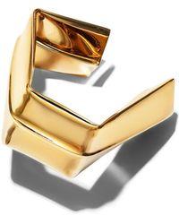 Proenza Schouler - Light Gold Large Square Bracelet - Lyst