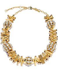 Lele Sadoughi - Gold Cicada Necklace - Lyst