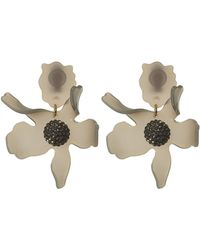 Lele Sadoughi | Charcoal Crystal Lily Earrings | Lyst