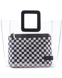 STAUD - Shirley Bag In Clear/black White Beaded - Lyst