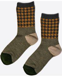 Minä Perhonen - Surf Houndstooth Socks - Lyst
