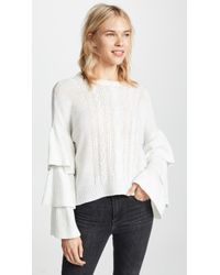 Cupcakes And Cashmere - Kristin Cable Knit Jumper - Lyst