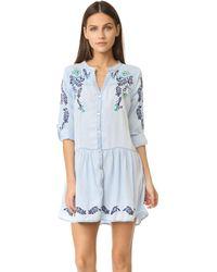 OndadeMar - Embroidered Short Dress - Lyst