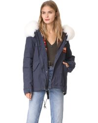 Mr & Mrs Italy - Canvas & Fox Fur Parka - Lyst