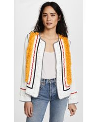 English Factory - Jacket With Fringe Trim - Lyst