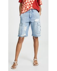 Hudson Jeans - Jane Relaxed Cargo Shorts - Lyst