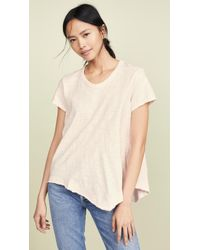 Wilt Slant Hem Crew Neck T-shirt - Natural