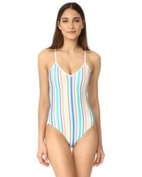 Shoshanna - Ombre Stripe String One Piece Swimsuit - Lyst