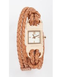Tory Burch - Double T Link Watch, 18mm - Lyst
