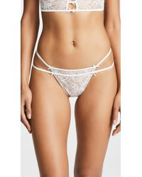 47b5743b38 Lyst - For Love   Lemons Etienne Lace Thong in White
