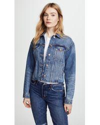 Joe's Jeans - Cutoff Cropped Jacket - Lyst