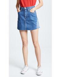 Madewell - Reconstructed Jean Miniskirt - Lyst