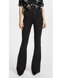 L'Agence - Lola High Rise Bell Bottom Trousers - Lyst