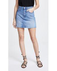 Madewell - Denim Frisco Miniskirt - Lyst