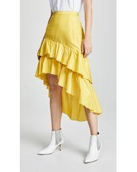 Cynthia Rowley - High Low Tiered Ruffle Skirt - Lyst