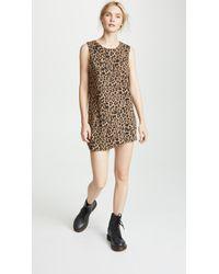 LNA - Leopard Muscle Tank Dress - Lyst