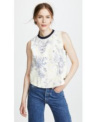 Cinq À Sept - Ditsy Muscle Tee - Lyst