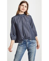 Birds Of Paradis - The Connie High Neck Blouse - Lyst