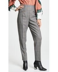 Toga Pulla - Wool Check Tapered Trousers - Lyst