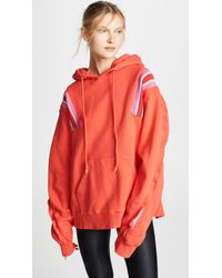 Facetasm - Oversized Sports Stripes Hoodie - Lyst