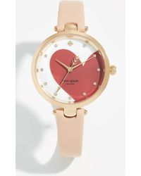Kate Spade - Holland Hearts Watch, 34mm - Lyst