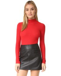 Getting Back to Square One - Mock Neck Bodysuit - Lyst