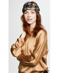 Jennifer Behr - Metallic Turban Headband - Lyst