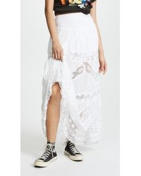 Free People - Piece Of My Heart Maxi Skirt - Lyst