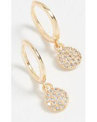 Shashi - Sparkly Sky Huggie Earrings - Lyst