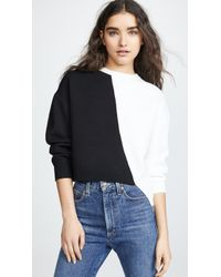 Alice + Olivia - Elyse Cropped Asymmetrical Pullover - Lyst