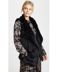 June - Asymmetric Fur Vest - Lyst