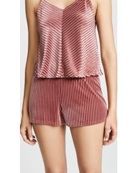 Only Hearts - Velour Rib Sleep Shorts - Lyst