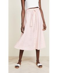 Three Dots - Seamed Midi Skirt - Lyst