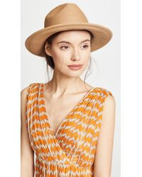 94406e01664 Hat Attack Raffia Braid Continental Hat in Natural - Lyst