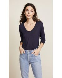 L'Agence - Long Sleeve Tee - Lyst