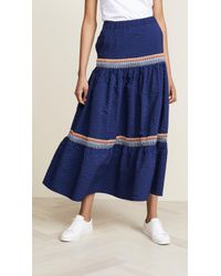 JOUR/NÉ - Long Skirt Vichy - Lyst
