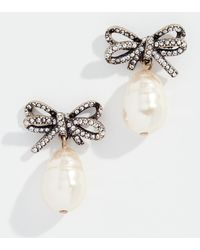 Marc Jacobs - Bow Imitation Pearl Earrings - Lyst
