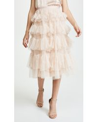 Needle & Thread - Scallop Tulle Skirt - Lyst