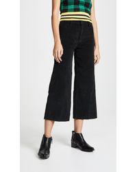 Joe's Jeans - The Crop Wide Leg Cords - Lyst