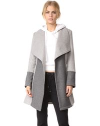 Cupcakes And Cashmere - Akira Colorblocked Wrap Coat - Lyst