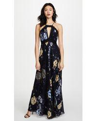 JILL Jill Stuart | Keyhole Floral Gown | Lyst