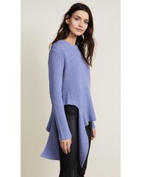 MILLY - Sliced Cloud Sweater - Lyst