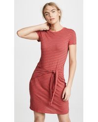 Three Dots - Big Sur Stripe Tie Front Dress - Lyst