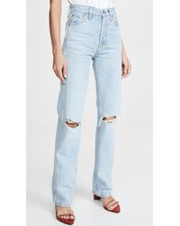 RE/DONE - High Rise Loose Jeans - Lyst