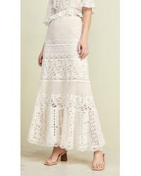e90f0aa1834f She Made Me Gathered Cotton Maxi Skirt in White - Lyst