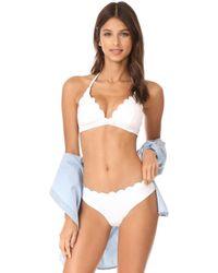 Kate Spade - Scalloped Triangle Bikini Top - Lyst
